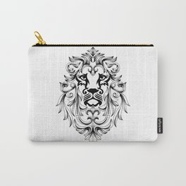 Heraldic Lion Head Carry-All Pouch