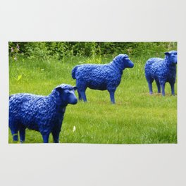 blue sheep Rug