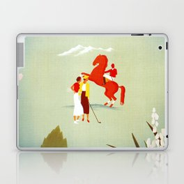 Horse riding, golf and tennis in 1920s Merano Laptop & iPad Skin
