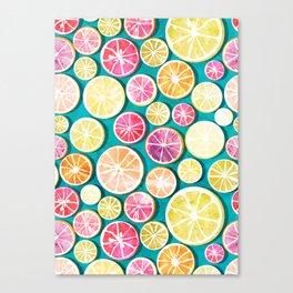 Citrus bath Canvas Print