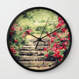 The Rose Garden Wall Clock