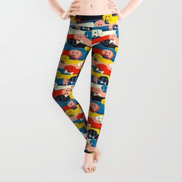 COLORED DOGS PATTERN 2 Leggings