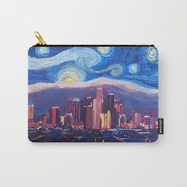 Starry Night in Los Angeles - Van Gogh Inspirations with Skyline and Mountains Carry-All Pouch