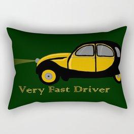 Very Fast Driver Rectangular Pillow