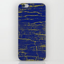 Stone Blue Yellow iPhone Skin