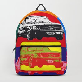 Mustang V8 1967 pop art inspired by A.W Backpack