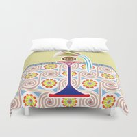 bread Duvet Covers featuring Ancient Bread by Paco Dozier