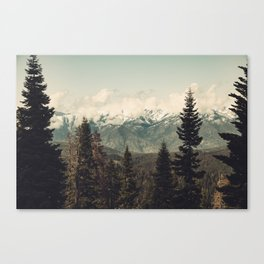 Snow capped Sierras Canvas Print