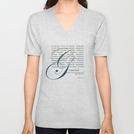 Sign Language for Gemini Unisex V-Neck