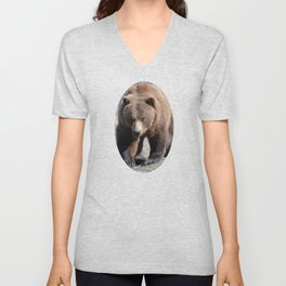 Alaskan Grizzly Bear - Spring Unisex V-Neck