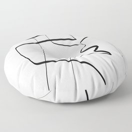 Abstract line art 6 Floor Pillow