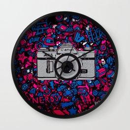 canon retro art Wall Clock
