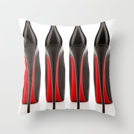 Red Soles Throw Pillow