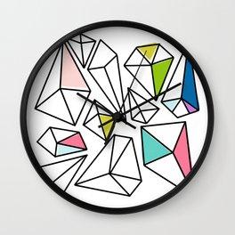Shine Bright | Colorful Geo Gems Wall Clock
