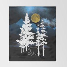 Full Moon Rising II Throw Blanket