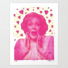 Beautiful Betty Art Print
