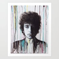 bob dylan Art Prints featuring Bob Dylan by Denise Esposito
