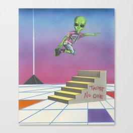 Rollerblading Alien Canvas Print