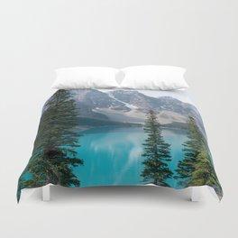 Moraine Lake - Trees Duvet Cover