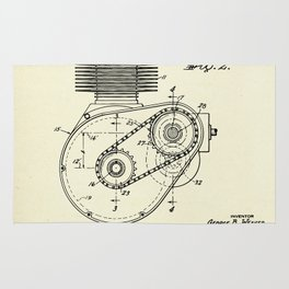 Shaft Drive for Motorcycles-1943 Rug