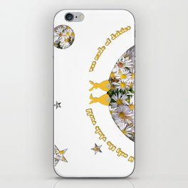 If Only the World Was Made of Daisies iPhone Skin