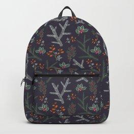 Retro. Christmas pattern . Backpack
