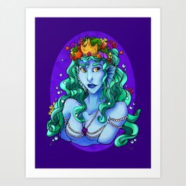Queen of the Sea Art Print