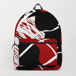 Black Red Net Cages and Splatter Abstract Art Backpack