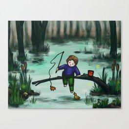 Odd Fishing Canvas Print