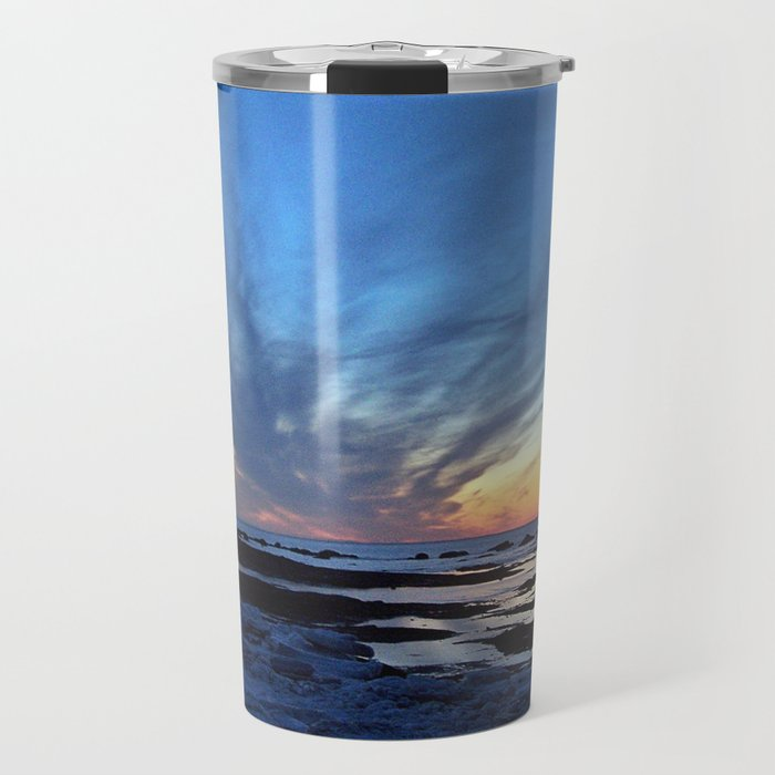 Cloud Streaks at Sunset Travel Mug