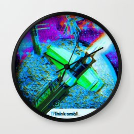 a tale of the moon drifter Wall Clock