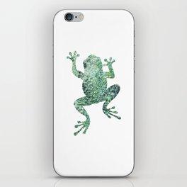 green lichen crawling frog silhouette iPhone Skin