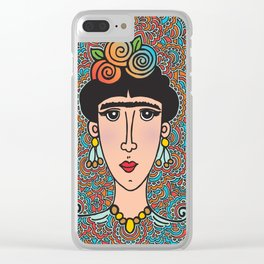 Flowery Frida Clear iPhone Case