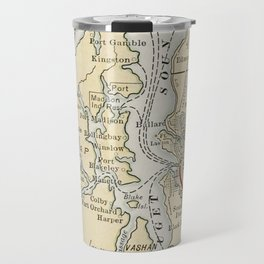Vintage Map of The Puget Sound (1909) Travel Mug