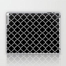 Black and White Moroccan Quatrefoil Laptop & iPad Skin