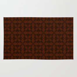Brown abstract pattern Rug