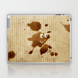 The Smile of Coffee Drop - Old Paper Style Laptop & iPad Skin