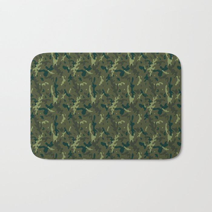 Forest Camouflage Bath Mat