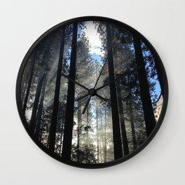 Sunlight Shines Through the Trees Wall Clock