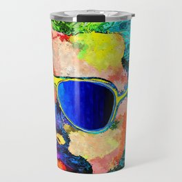 Freddie Grunge Portrait Travel Mug