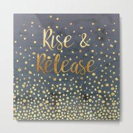 Rise and Release Yoga Meditation Metal Print