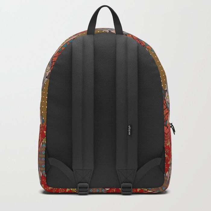 Rustic . Patchwork . Backpack