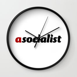 asocialist Wall Clock