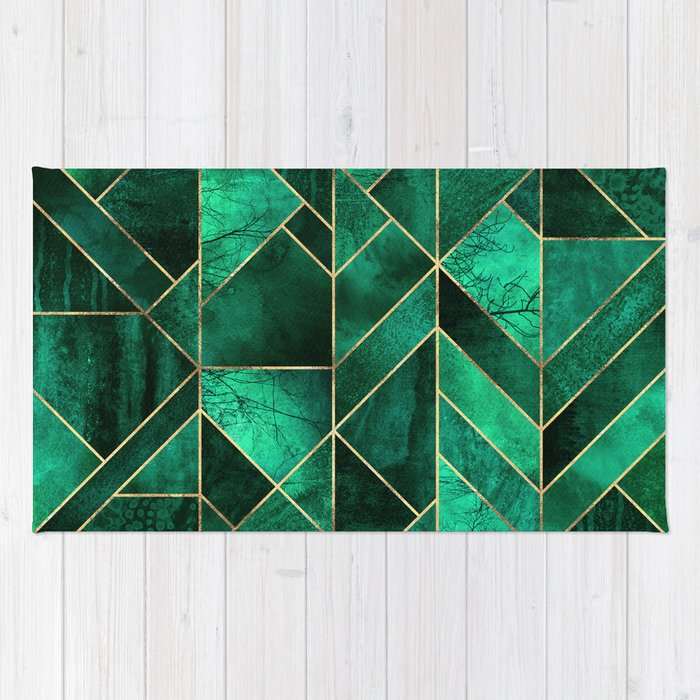 abstract nature emerald green rug by elisabethfredriksson society6