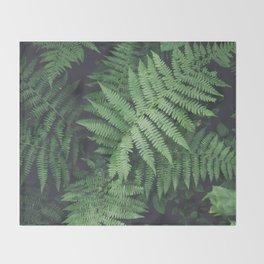 Fern Bush Nature Photography   Botanical   Plants Throw Blanket