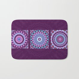 Mandala Collage violett Bath Mat