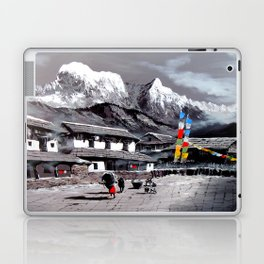 Panoramic View Of Everest Base Camp Laptop & iPad Skin