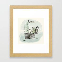 'Raft' (Colour) Framed Art Print
