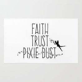 Faith Trust Pixie Dust Fairy Hand Printing Rug