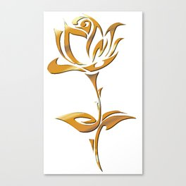 Golden tribal flower Canvas Print